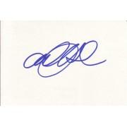 Alexandra Holden Autographed Index Card