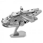 Puzzle DIY 3D Montado Modelo Del Milenio Falcon Juguete - plata