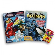 Comic Book Superheroes Coloring Bundle - Batman and Spider-Man with Cra-Z-Art Crayons by Bendon