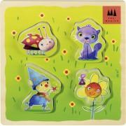 Schmidt Spiele / Drei Magier 40950 - El prado magia, rompecabezas de madera 4 piezas