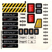 Lego Original Sticker Sheet for Train Set #7898 Cargo Train Deluxe