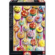 Educa - 15549 - Puzzle - Cup Cakes de Couleur - 500 Pièces