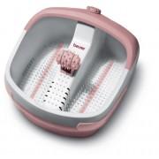 Beurer FB-25 - Hidromasaje para pies, 130 W, 3 funciones, color rosa y blanco