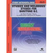 Studies and Melodious Etudes for Baritone B.C., Level Two by Herman Vincent