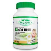 Vitamina D3 Organika 400 UI 90 capsule