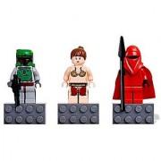 LEGO Star Wars Mini Figure Magnet Set (852552) - Boba Fett Princess Leia and Imperial Royal Guard