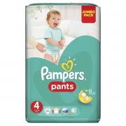 Scutece PAMPERS Active Baby Pants 4 Jumbo Pack 52 buc
