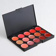 15 lip gloss paleta bastante normal composição diária / halloween maquiagem / maquiagem partido