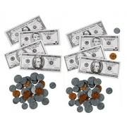 224pc Alazco Play Money Set - Coins and Bills - Fun & Educational, Playful Learning Teaching Math Counting Banking...