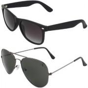 Zyaden Combo of Wayfarer Sunglasses Aviator Sunglasses (Combo-2)