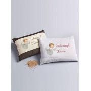 Himmelgrün Schutzengel-Kissen Himmelgrün weiss