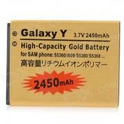 Remplacement 3.7V 2450mAh Li-ion pour Samsung Wave Y S5380 / S5360 Galaxy Y / I509 - Golden