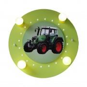 energie A++, Plafondlamp Tractor 4/20 - hout 4 lichtbronnen, Elobra
