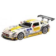 Minichamps - 151133121 - Véhicule Miniature - Modèle À L'échelle - Mercedes-benz Sls Amg Gt3 - 24h Du Nurburgring 2013 - Echelle 1/18