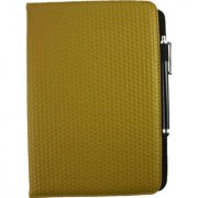 Emartbuy Toshiba Excite AT200 PC Universal ( 9 - 10 Inch ) Mustard Padded 360 Degree Rotating Stand Folio Wallet Case Cover + Stylus