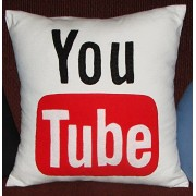 Cool Social Media Logo Pillows For Your Home Car Room Bed Sofa Whatsapp Twitter Wechat FacebookYoutube (Youtube Pillow)