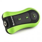 auna Hydro 4 Reproductor MP3 acuático 4 GB memoria protección IPX-8 (Impermeable, clip sujeción, incl. auriculares sumergibles, resistente agua hasta 3m profundidad, batería integrada, ideal natación, buceo, surf o snowboard)