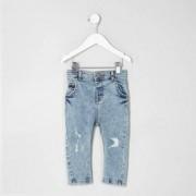 River Island Mini boys light Blue distressed skinny jeans
