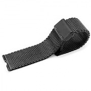 iWonow 22mm Stainless Steel Watchband Smart Watch Band Strap Bracelet for Motorola Moto 360 1 Gen 2014 Smartwatch (1st Milanese Black)