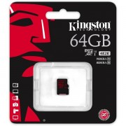 Kingston minneskort, microsdxc, 64gb, micro secure digital