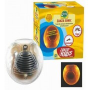 Zanza Sonic Aparat electronic cu ultrasunete și unde electromagnetice împotriva țânțarilor cu lumină LED