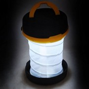Pop-up LED White Light 3-Mode Plastic Flashlight Lantern with Flip-up Hanging Handle for Outdoor Camping