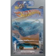 Hot Wheels 2012-095 Faster Than Ever 5/10 '10 Ford Shelby GT-500 Super Snake BLUE-Green 1:64 Scale SCAN & TRACK Card by Mattel