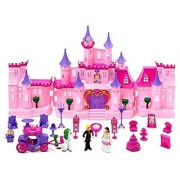 Musical Castle Gift Girl Toy Princess Fairy Tale Roleplay Playset With Dolls Furniture