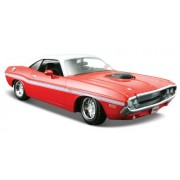 1970 Dodge Challenger R/T Coupe [Maisto 31263], Rojo / Blanco, 1:24 Die Cast