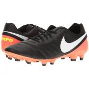 Nike Tiempo Genio II Leather FG BlackWhiteHyper OrangeVolt