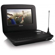 "DVD Player Portabil Philips PD7015/12, LCD TFT 7"", USB (Negru)"