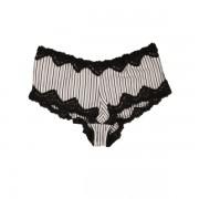 Chilot de dama SHORT STRIPE alb si negru