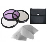 Sony Cyber-shot DSC-HX400 High Grade Multi-Coated Multi-Threaded 3 Piece Lens Filter Kit (55mm) + Nwv Direct Microfiber Cleaning Cloth.