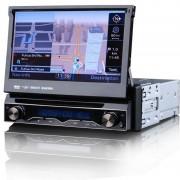 """7"""" HD Érintőkijelzős Autós DVD fejegység beépített GPS vevővel"""