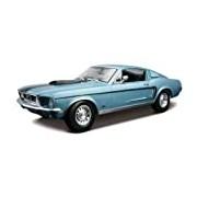 Maisto 1:18 Scale Ford Mustang GT Cobra Jet 68 Model Car (Metallic Blue)