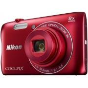 Aparat Foto Digital NIKON COOLPIX S3700 (Rosu), Filmare HD, 20.1 MP, Zoom optic 8x