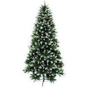 Snowy Jelka Sa Belim Vrhovima i Zelenom Osnovom - 240 cm