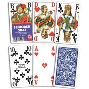 Tarjeta Juegos, Skat, senior tarjeta, fabricado en Francia de la Fábrica ASS Altenburger tarjeta