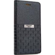 Purple Eyes Brick Faux Leather Flip Case for Lenovo S650 (Black)