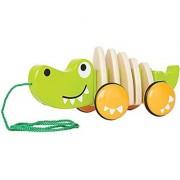 Hape - Walk-A-Long Croc Wooden Pull Toy