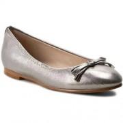Clarks Baleriny CLARKS - Grace Lily 261230624 Silver Metallic