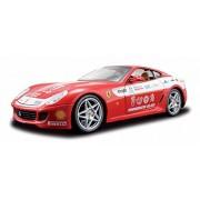 Coche Ferrari 509 GTB Fiorano. KIT de montaje, 35 piezas. Color Rojo con banda blanca.