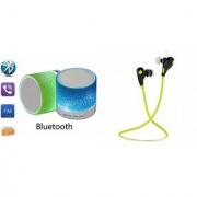 CLONEBEATZ Music Mini Bluetooth Speaker(S10 Speaker) And Bluetooth Headset (Jogger Headset) for GIONEE ELIFE E5