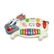 Toyzstation Rabbits Musical Piano With 3 Modes Animal Sounds, Flashing Lights & Wonderful Melodious Music