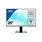 AOC 25 inch IPS QHD 2560 x 1440 Monitor, Height Adjust Display Port, HDMI, DVI, VGA, Speakers, Vesa Q2577PWQ