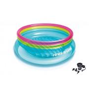 INTEX Inflatable Jump-O-Lene Ring Bounce Kids Bouncer + Air Pump
