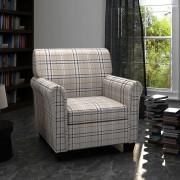 vidaXL Модерен фотьойл, цвят кремав