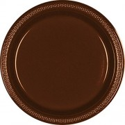Chocolate Brown Dinner Plates 20ct