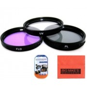 49mm Multi-Coated 3 Piece Filter Kit (UV-CPL-FLD) For Sony Alpha SLT-A33, A35, A55, A58, A65, A77, A99, A3000, A5000, a5100, A6000, DSLR330L, A7, A7II, A7R, A7S, NEX-5T, NEX-6, NEX-7K, NEX-3N, NEX-F3 Which Has Any Of These Sony Lenses 18-55mm DT E-mount,