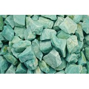 Fantasia Materials: 1 Lb Amazonite Rough From Madagascar (Select 1 To 18 Lbs) Raw Natural Crystals For Cabbing, Cutting, Lapidary, Tumbling, Polishing, Wire Wrapping, Wicca & Reiki Crystal Healing